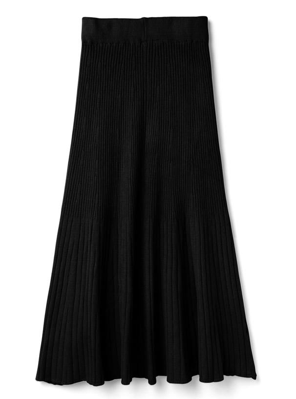 ニットフレアスカート