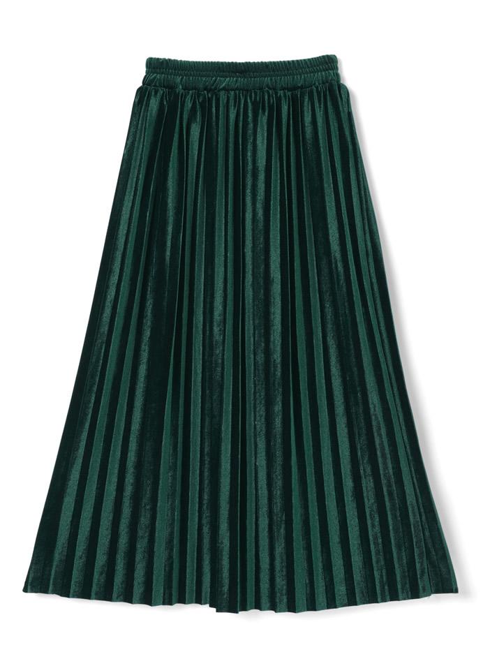 ベロアプリーツスカート