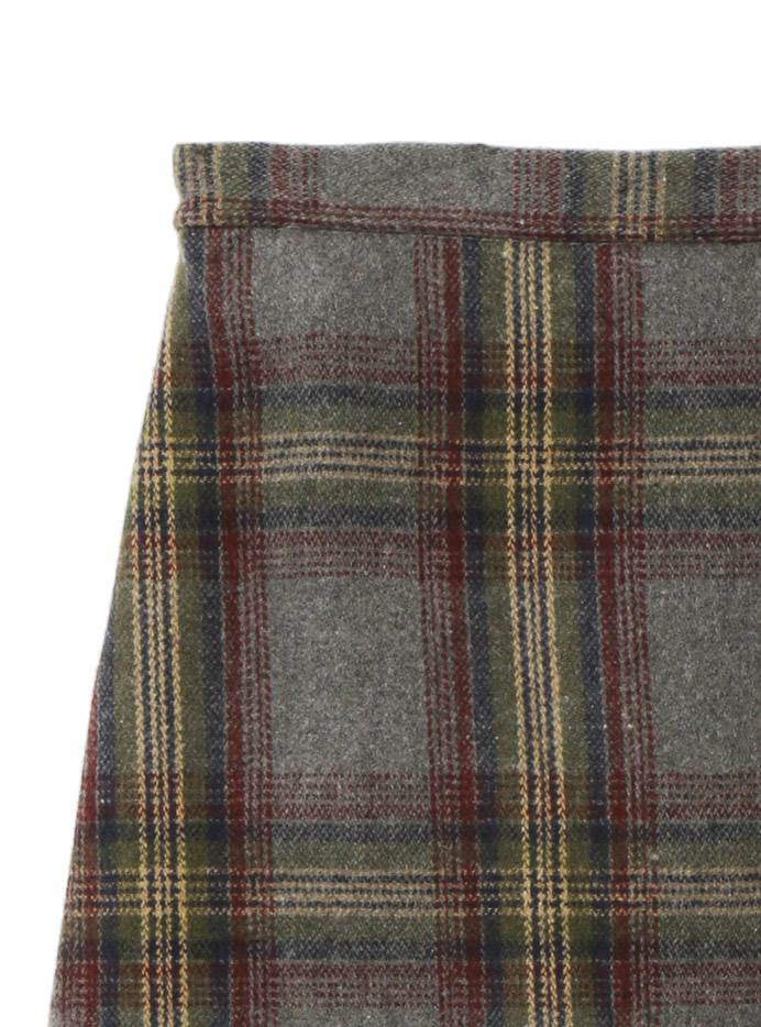 チェックミディスカート