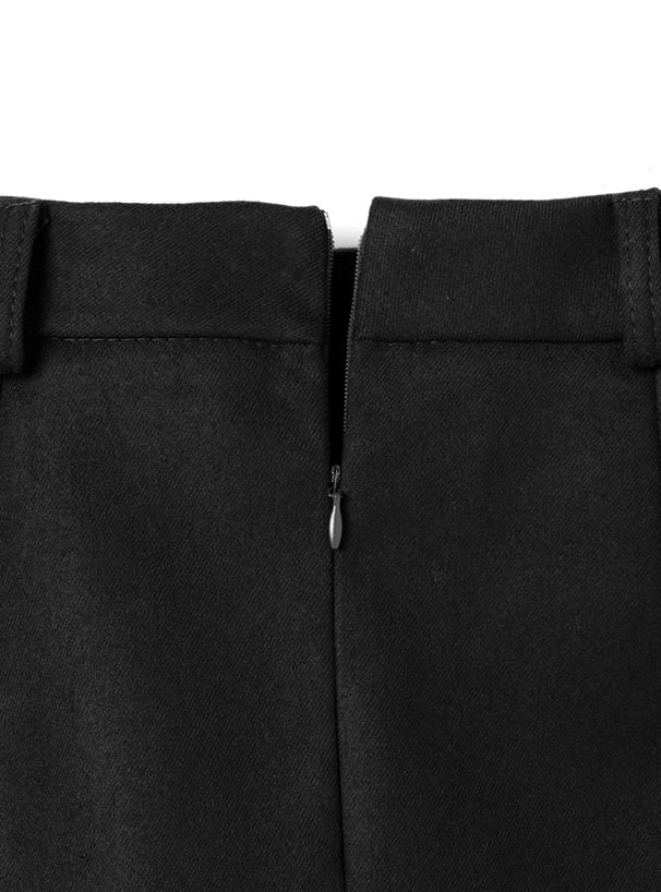 ベルト付台形ミニスカート