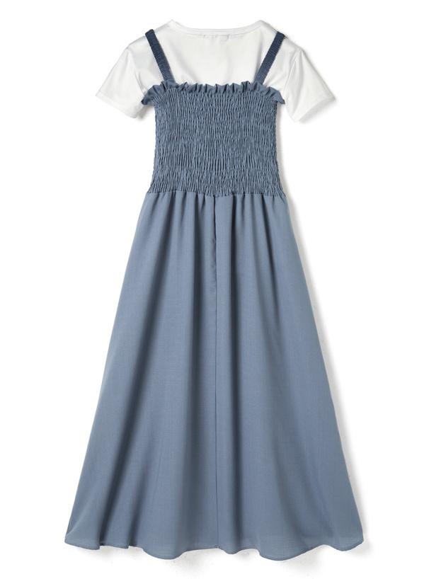 TシャツXマキシキャミワンピース2点セット
