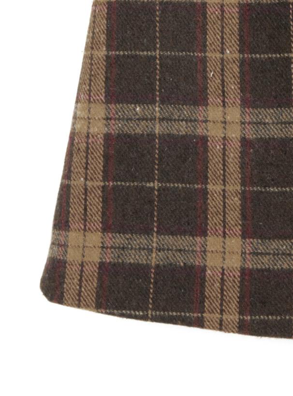 チェック台形ミニスカート