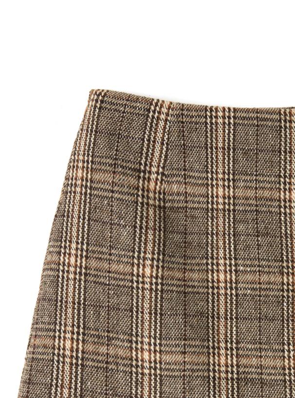 インパン付きチェック台形ミニスカート