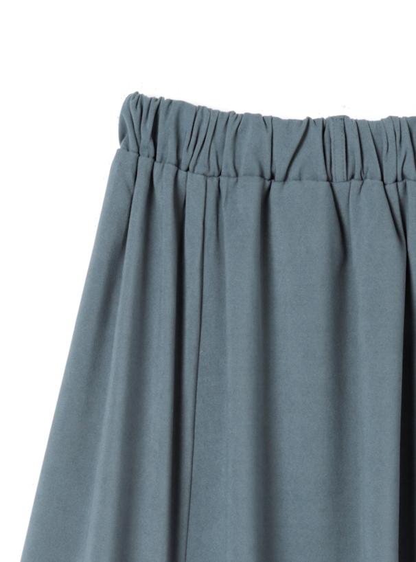 ベルト付きスエードフレアスカート
