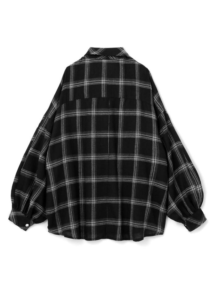 ビッグシルエットチェックネルシャツ