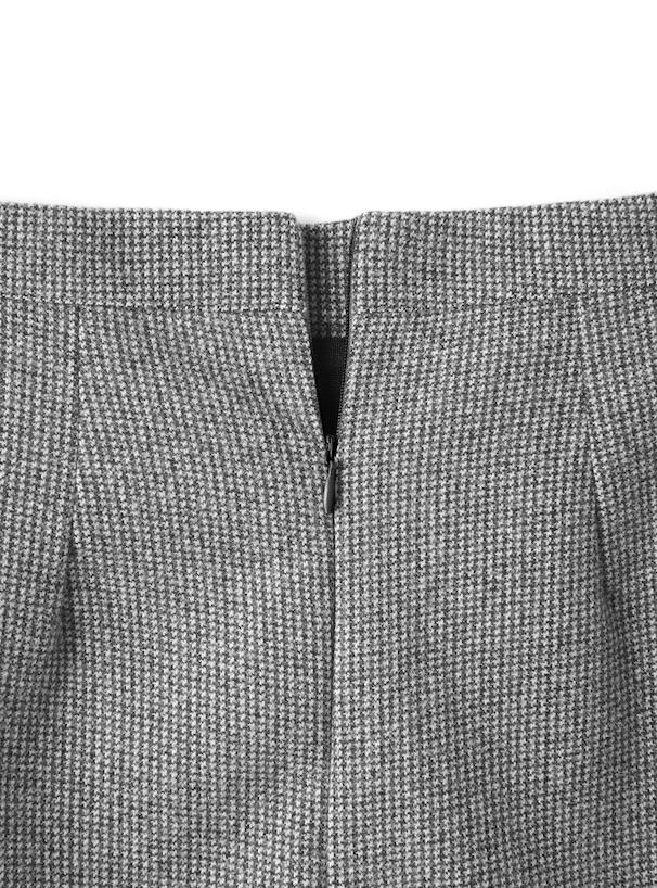 インパン付き千鳥格子台形スカート