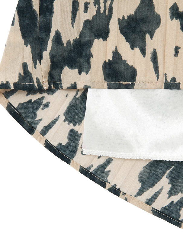 レオパードプリントプリーツスカート
