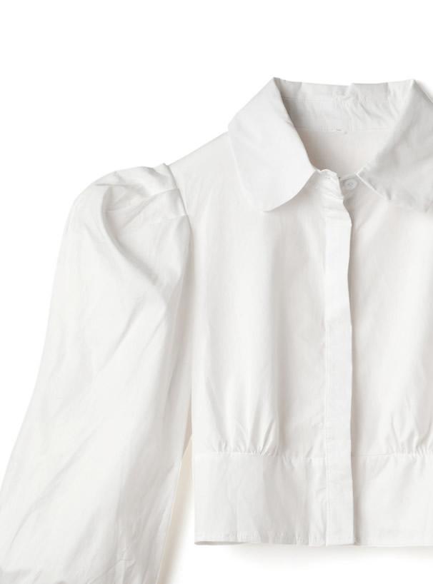 パワーショルダーショート丈シャツ