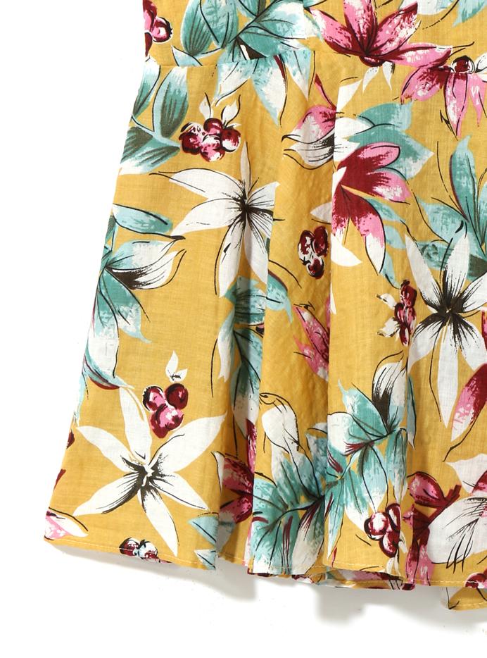 花柄フレアキャミブラウス