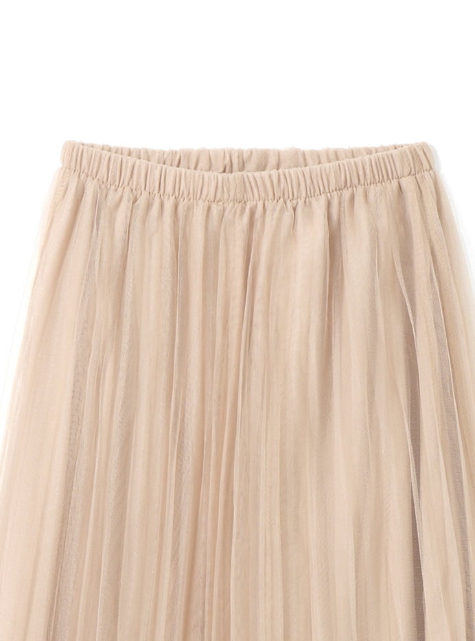 チュールプリーツスカート