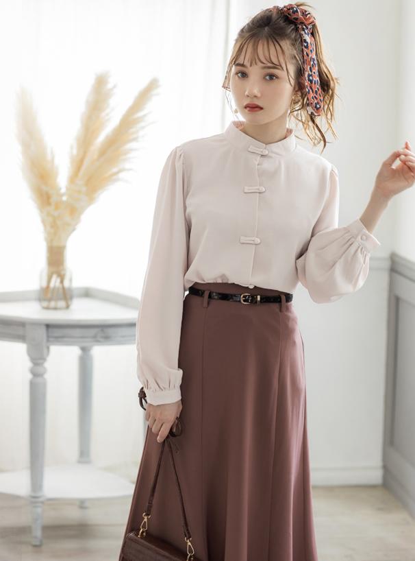 白石麻衣 パール付き変形リングイヤリング