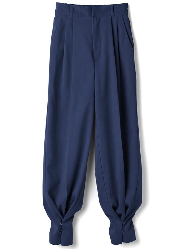 裾2Wayセンタープレスヘムボタンパンツ