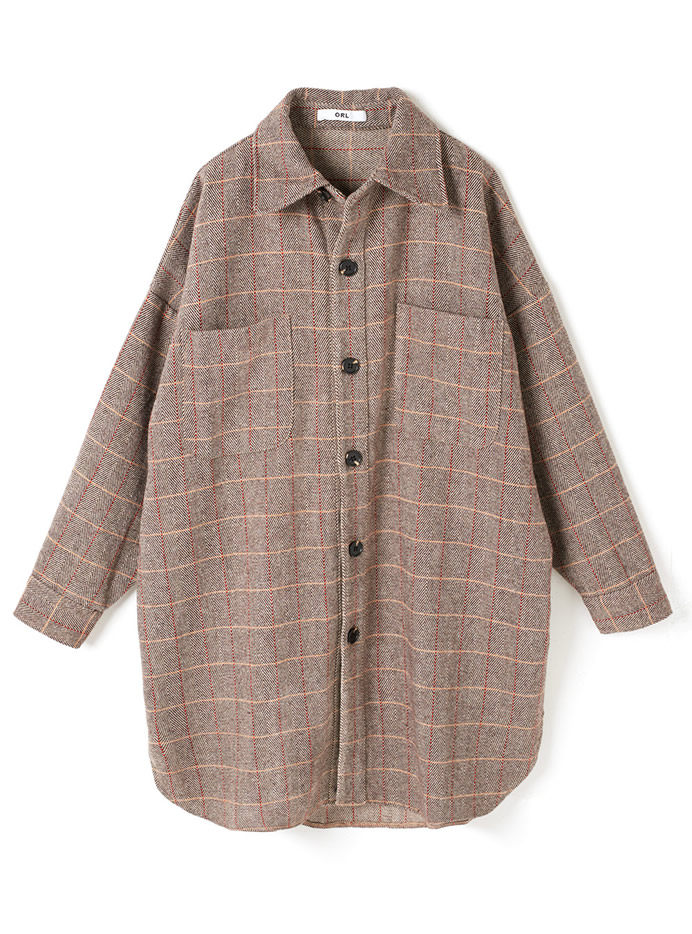 オーバーサイズチェックシャツジャケット