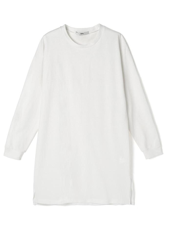 スリット入りベーシックロングTシャツ
