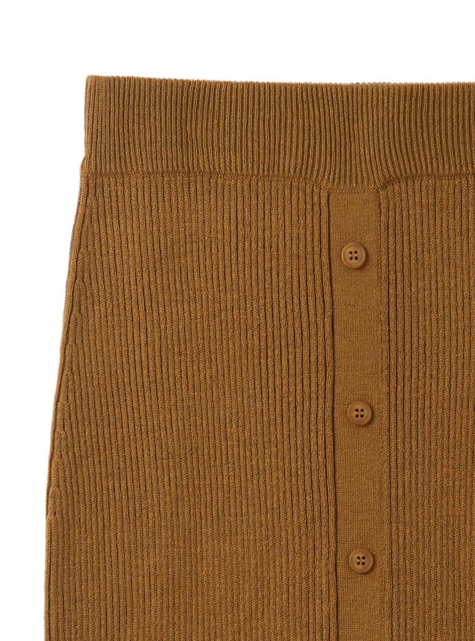 フロントボタンニットスカート