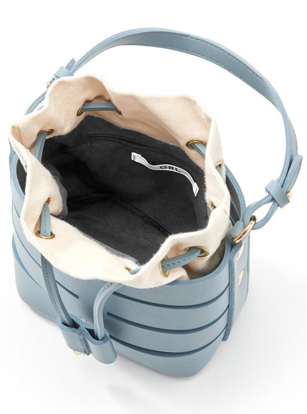 巾着コンビレザーバッグ