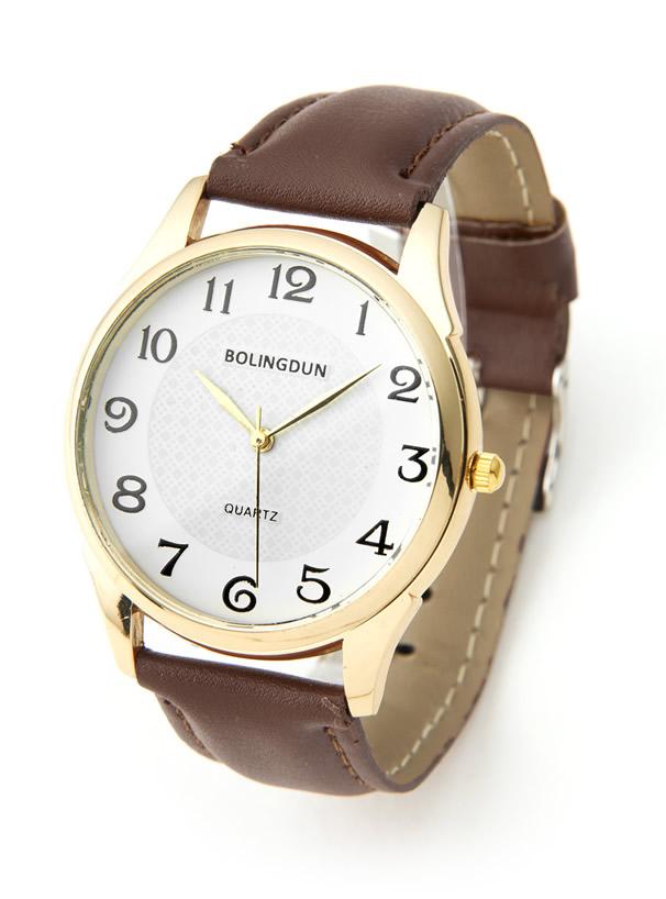 フェイクレザーベルト時計