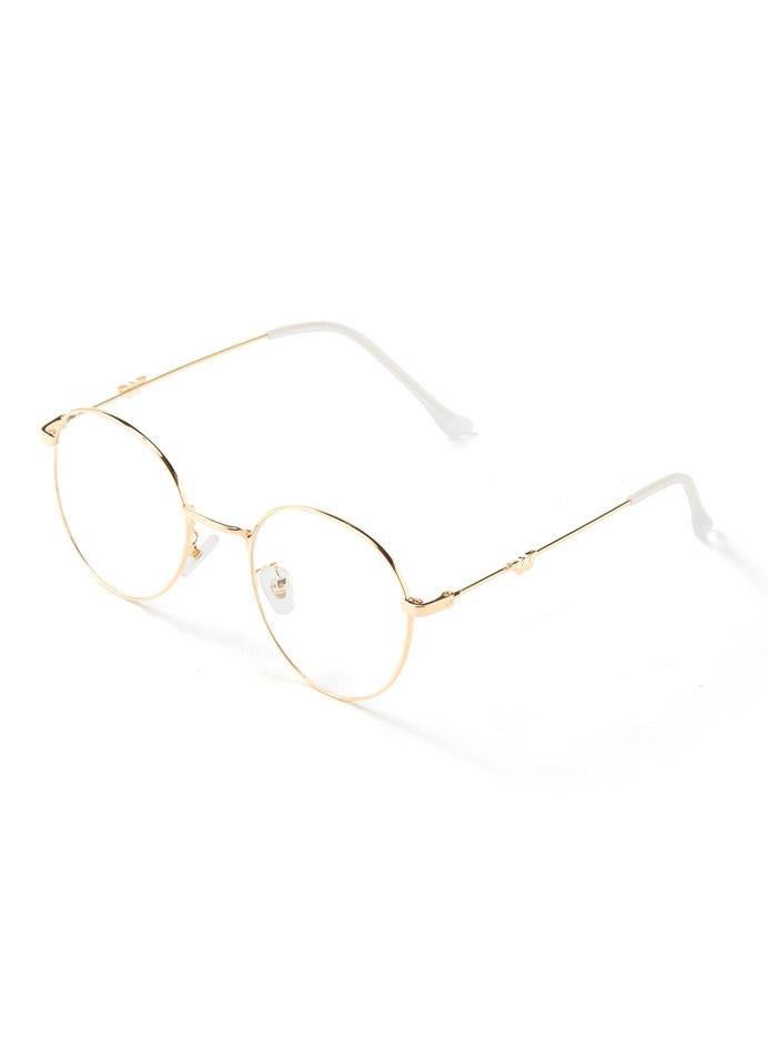 細フレーム伊達眼鏡