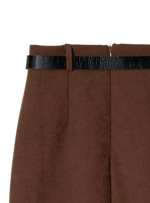 ベルト付きバックスリットスカート