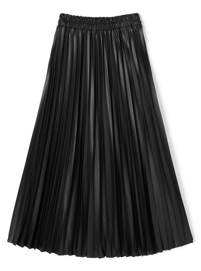 エコレザープリーツスカート