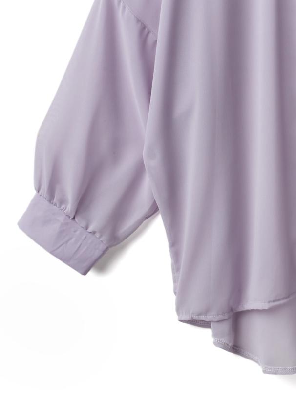 ボリュームスリーブルーズシアーシャツ
