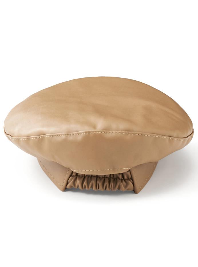 レザーベレー帽