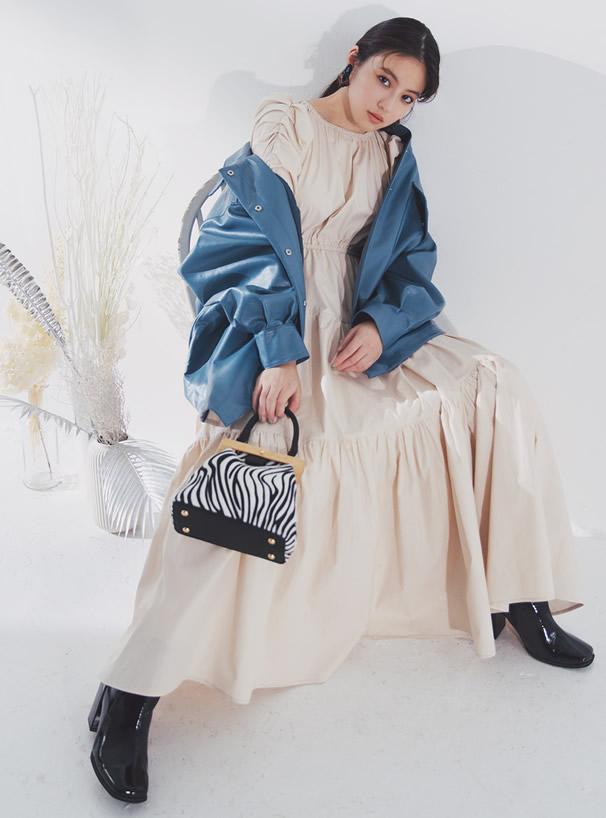 白石麻衣 2Wayゼブラ柄ハンドバッグ