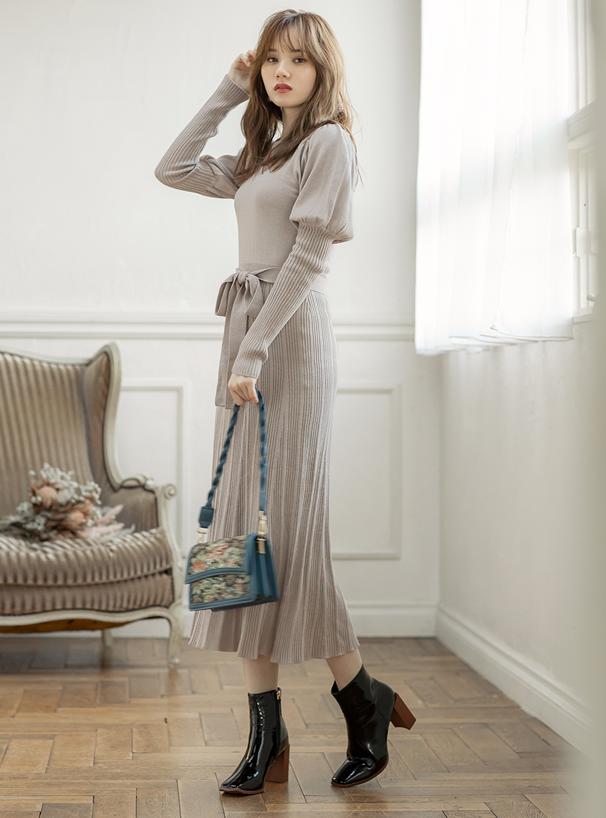 白石麻衣 2Wayフラワーフラップショルダーバッグ