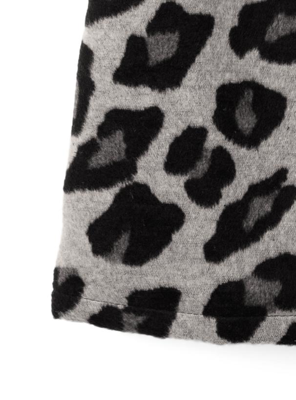 インパン付きレオパード台形ミニスカート