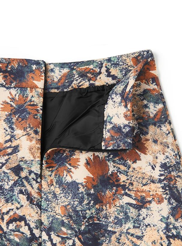 インパン付きペイント柄台形スカート