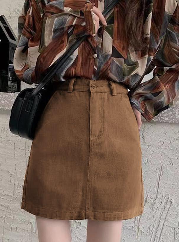 ツイル台形ミニスカート