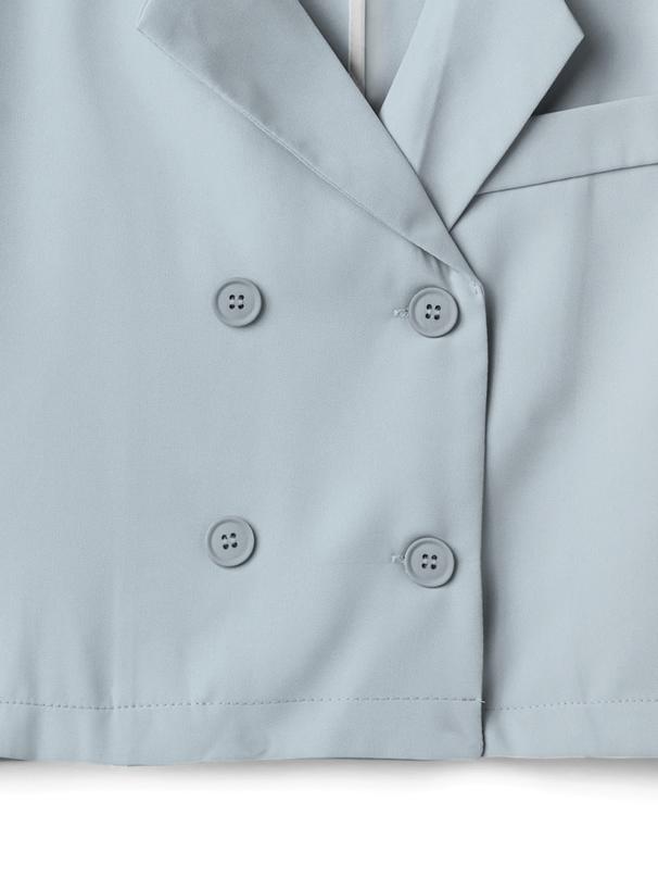ショート丈ジャケットXロングパンツセットアップ