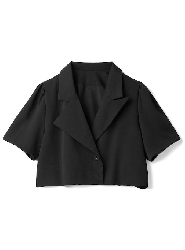 ショート丈ジャケットXベアトップショートパンツ
