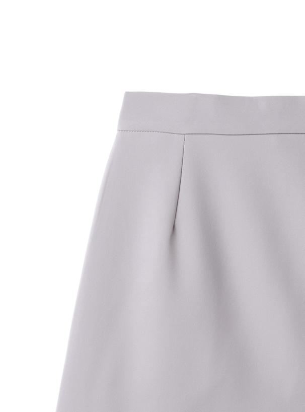 インパン裏地付きフリルヘム台形ミニスカート