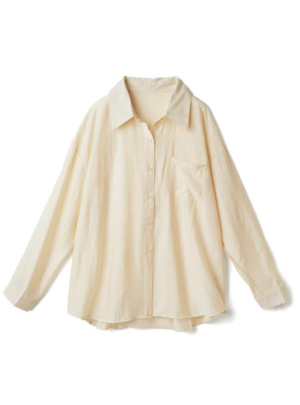 シワ加工シャツ