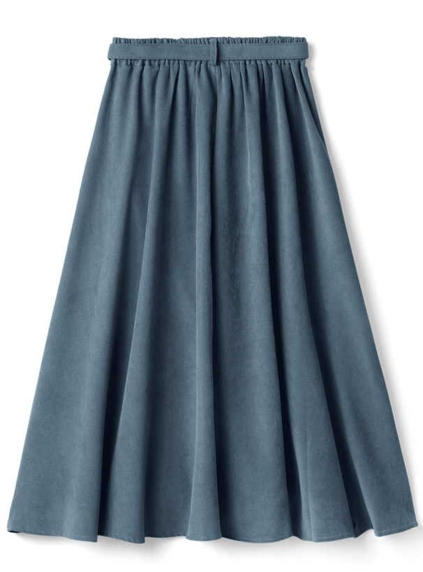 ベルト付きフレアスカート