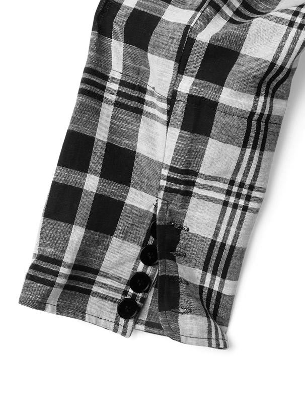 チェック柄ジャケットXインパン裏地付きミニスカートセットアップ