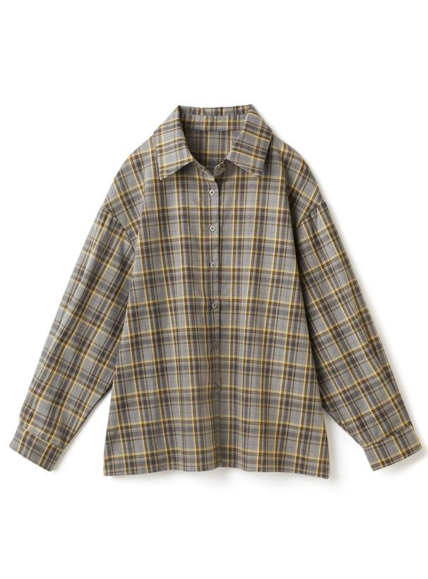 チェック柄オーバーサイズシャツ