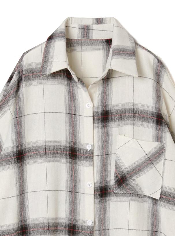 オーバーチェックシャツ