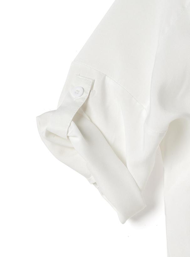 スキッパーシャツXベルト付きフレアスカートセットアップ