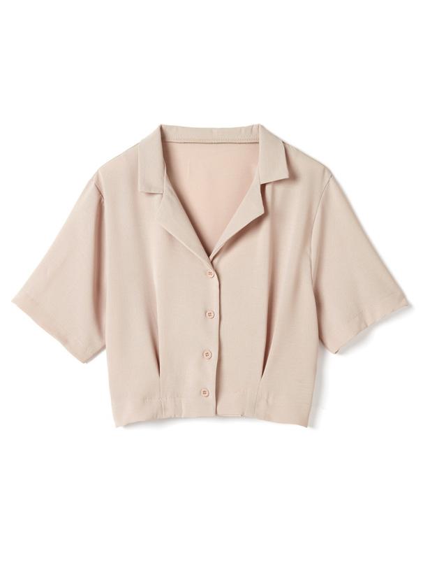 オープンカラーショートシャツ