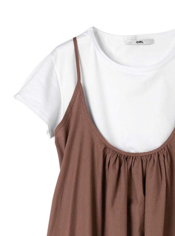 Tシャツ×キャミソールワンピース2点セット