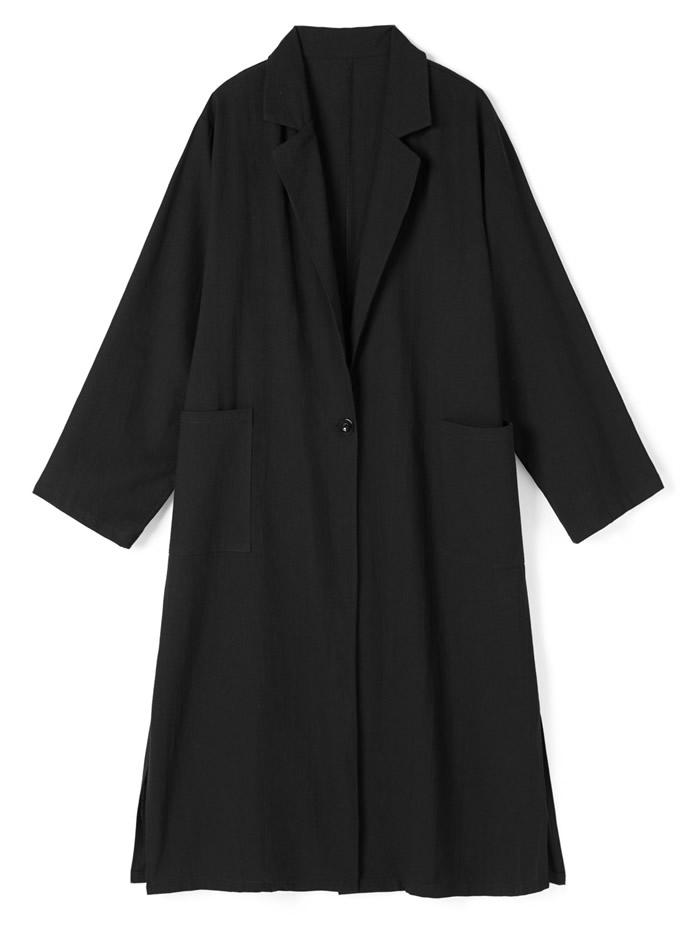 テーラードカラーロングジャケット