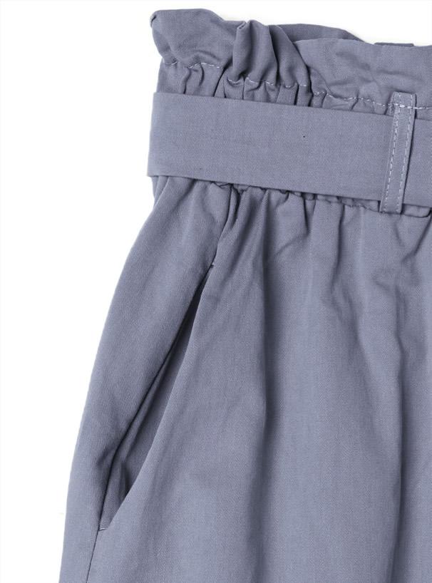 リボンベルト付きフロントボタンスカート