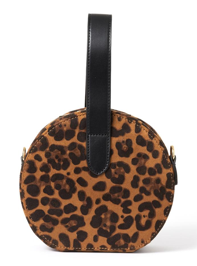 2wayレオパード柄サークルバッグ
