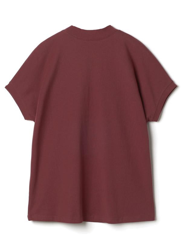 モックネックTシャツ