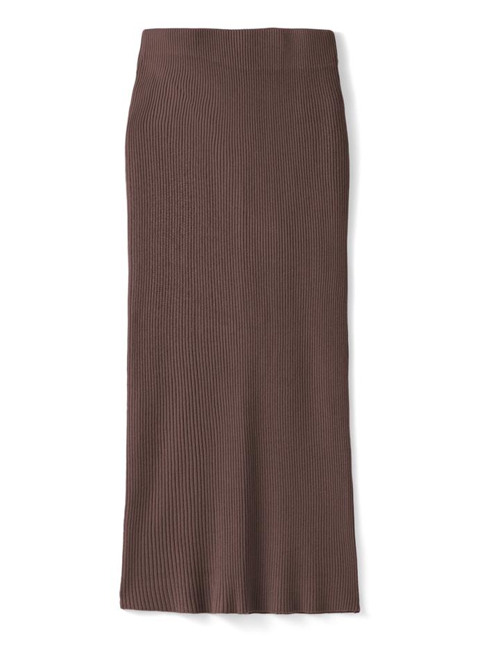 リブニットロングスカート
