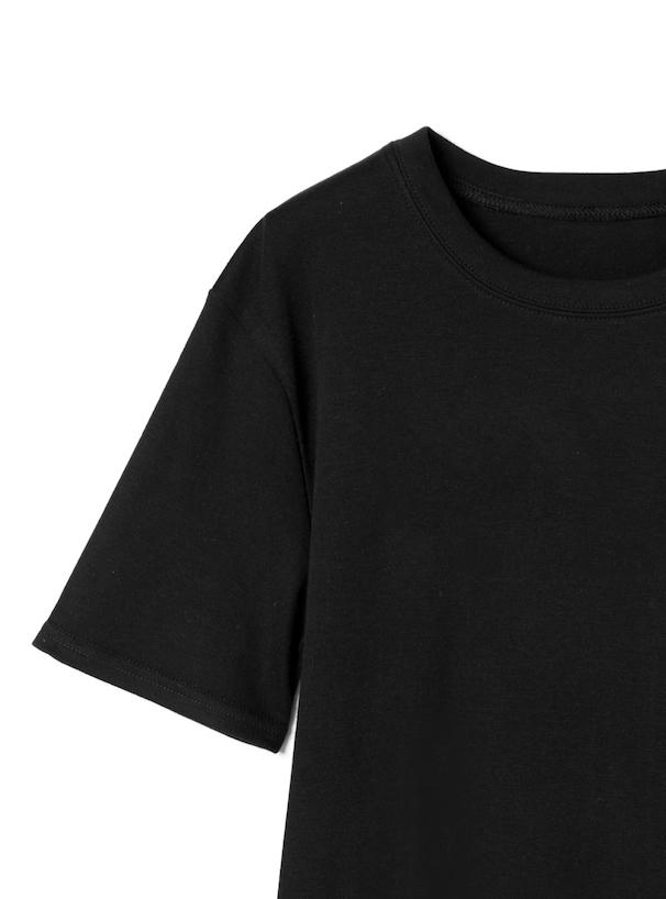 Tシャツ×リボンベルト付サスワイドパンツセットアップ