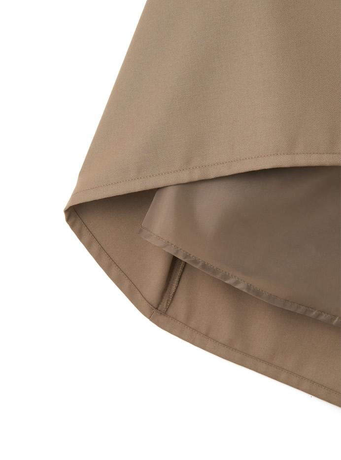 サイドプリーツフロントドレープスカート