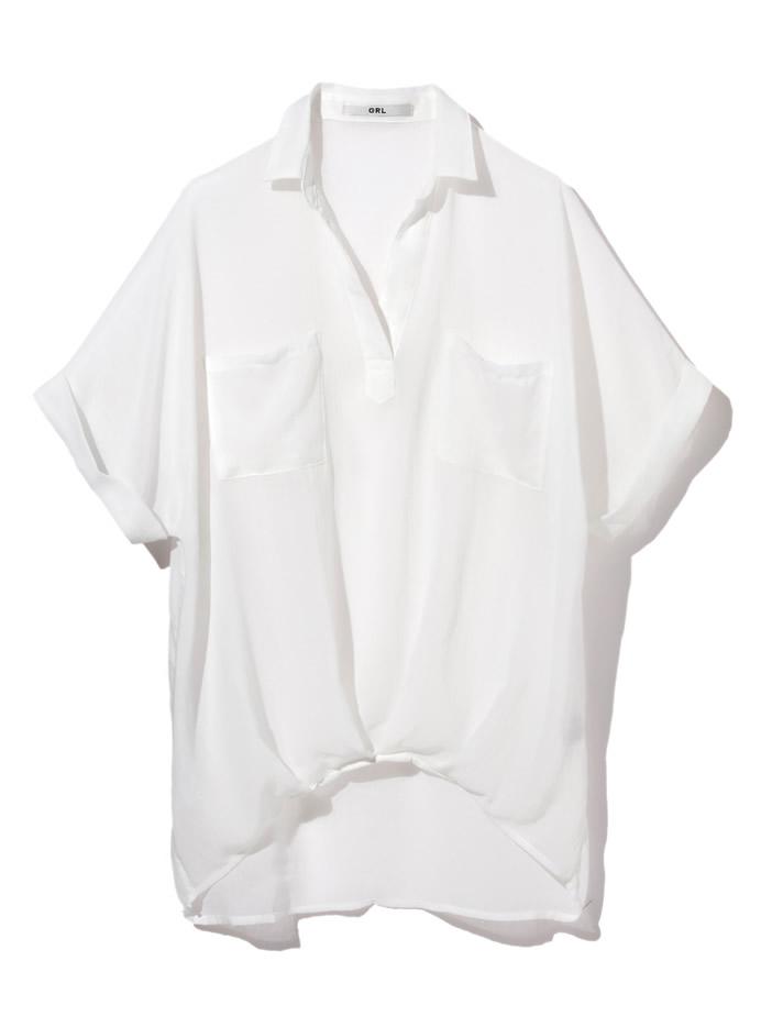 ウエストタックガーゼスキッパーシャツ